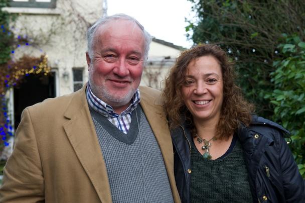 With Eva, in Dublin